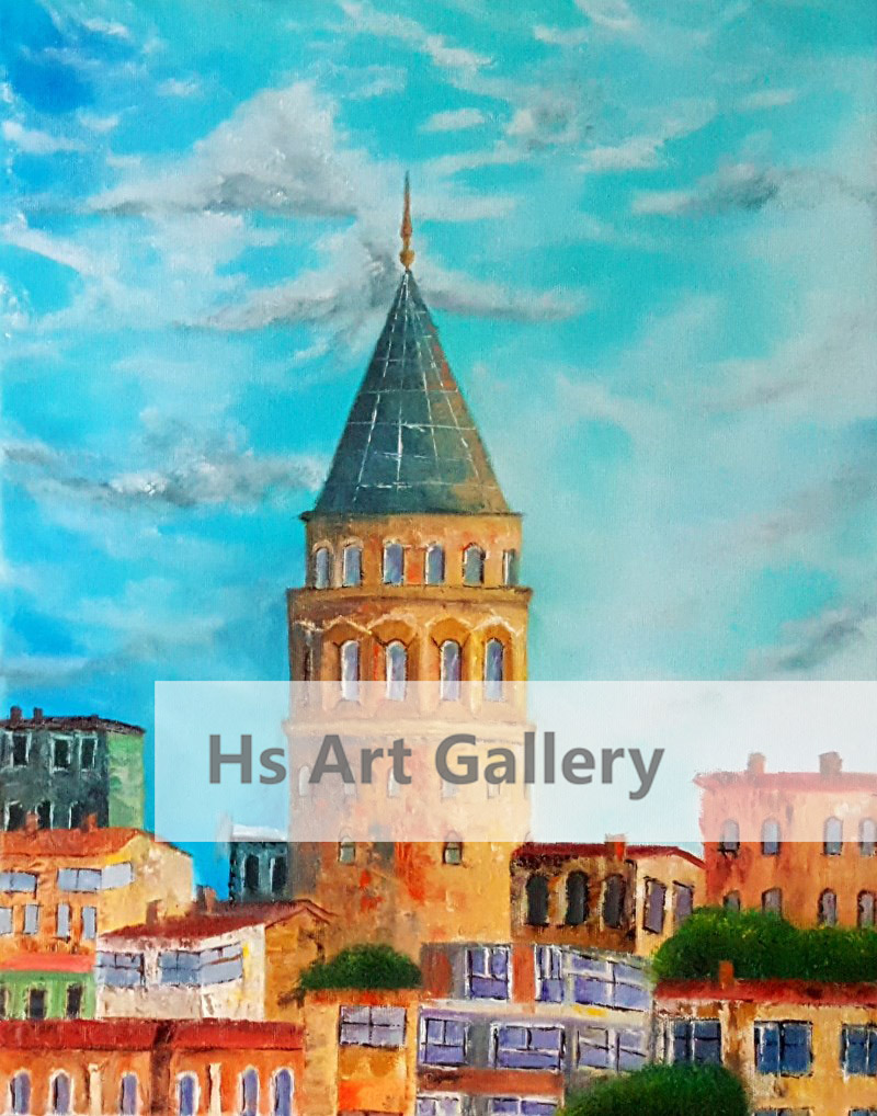Galata Tower - İstanbul  Oil Painting