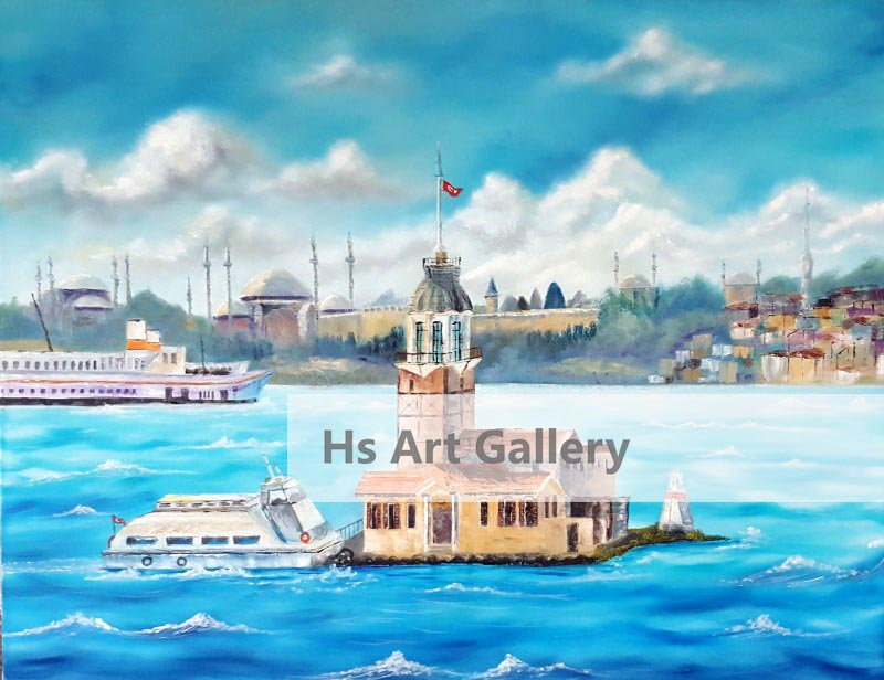Maiden Tower - İstanbul  Oil Painting