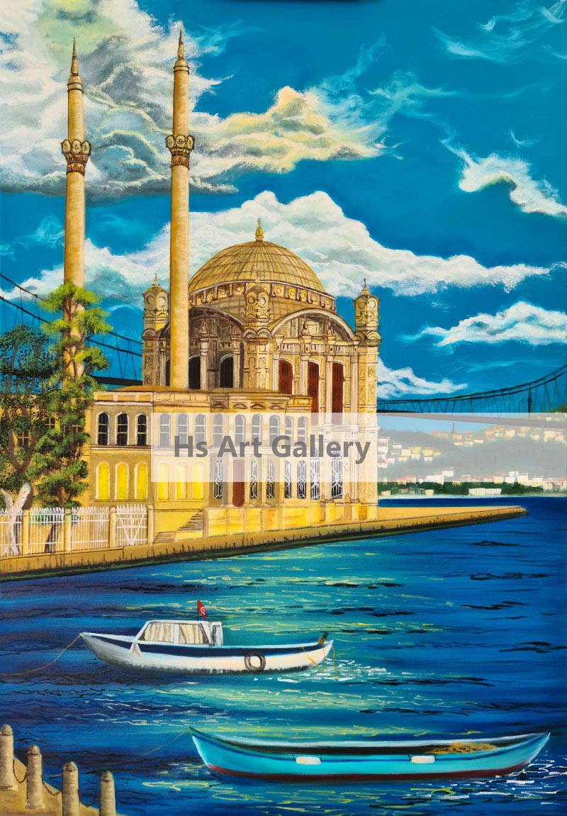 Ortaköy Mosque İstanbul Oil Painting