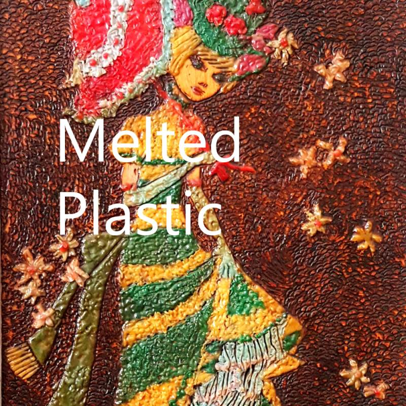 Melted Plastic Art